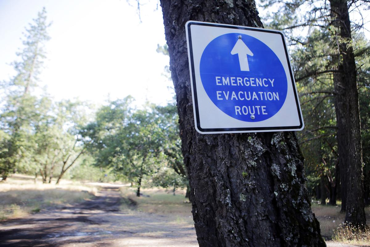 Angwin fire evacuation route