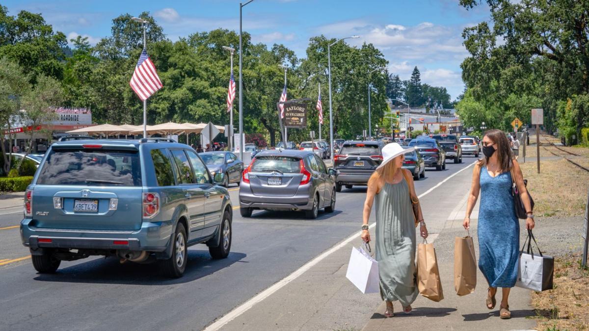 St. Helena shoppers