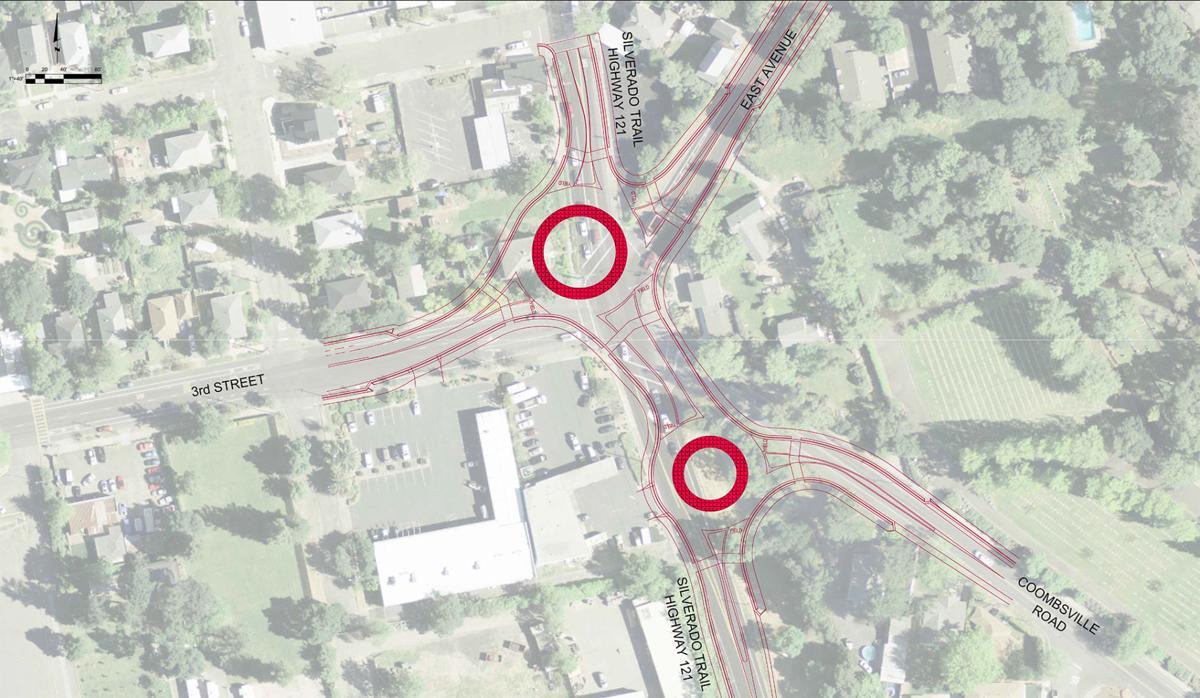 Napa approves roundabouts at five-way crossing