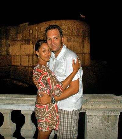 Tamera Mowry and Adam Housley