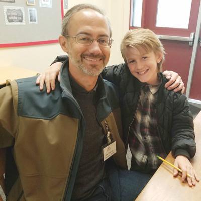 Volunteer tutor Doug Boeschen