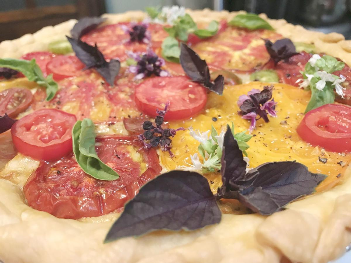 Fresh tomato pie, made from ingredients at the St. Helena Farmers' Market