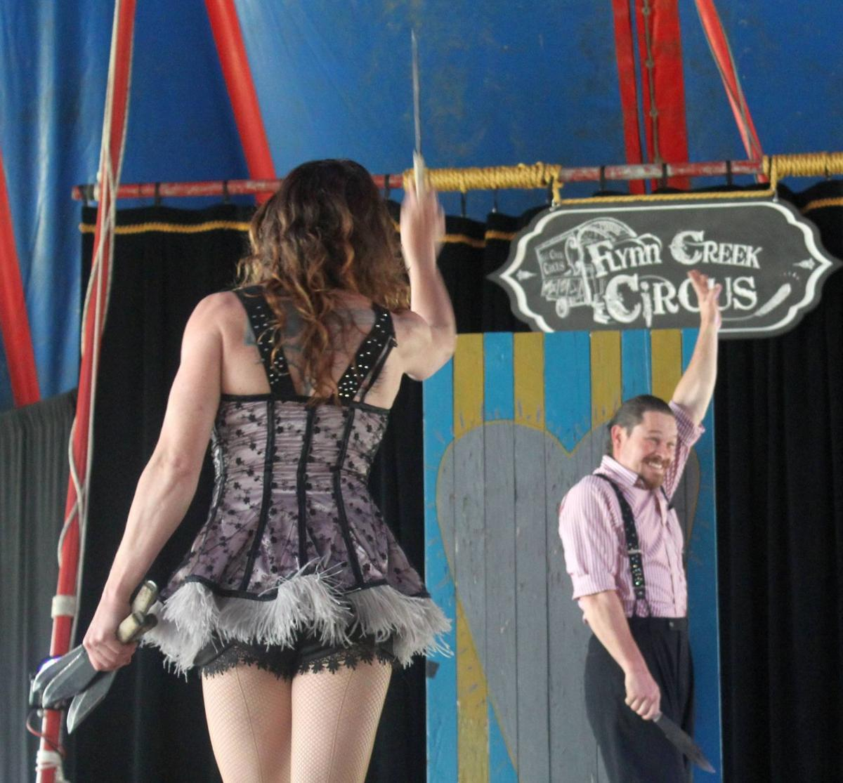 Knife throwing at Calistoga's Fair & Fiesta