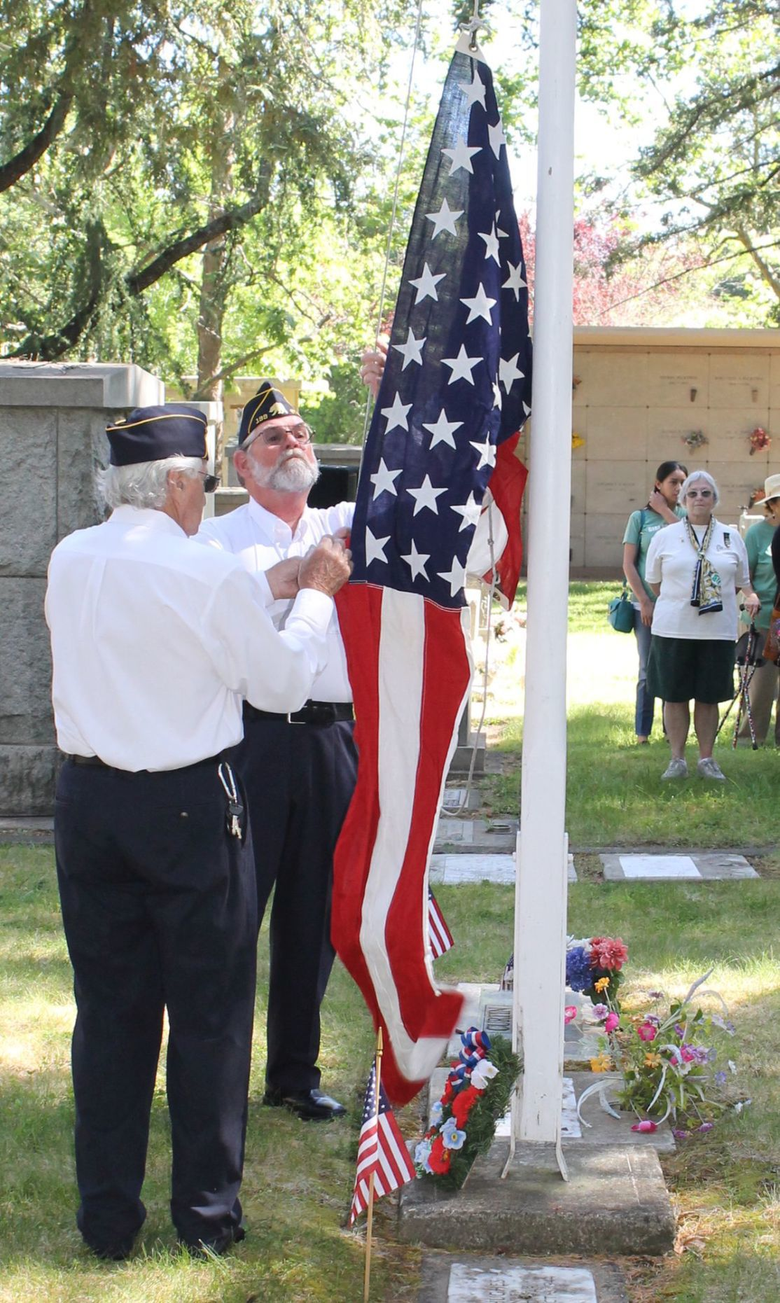 Memorial Day services at St. Helena Cemetery