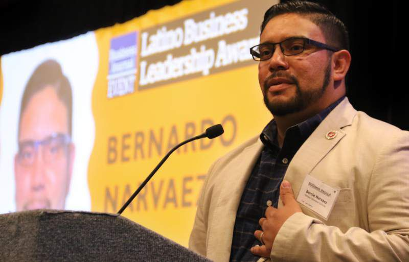 Bernie Narvaez won the 2017 North Bay Business Journal's Latino Business Leadership award