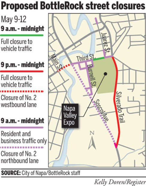BottleRock traffic plan Avoid some areas Local News