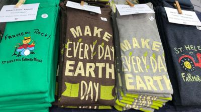 T-shirts at the St. Helena Farmers' Market