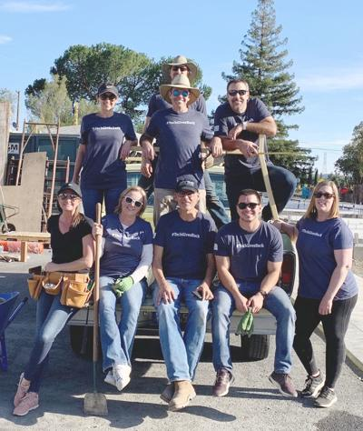 Silicon Valley Bank team at the Brenkle Court housing project
