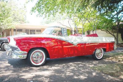 Calistoga resident Frank Cafferata's 1956 Ford Sunliner
