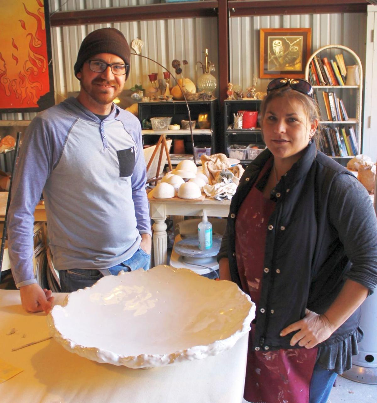 Organic shapes at NBC Pottery