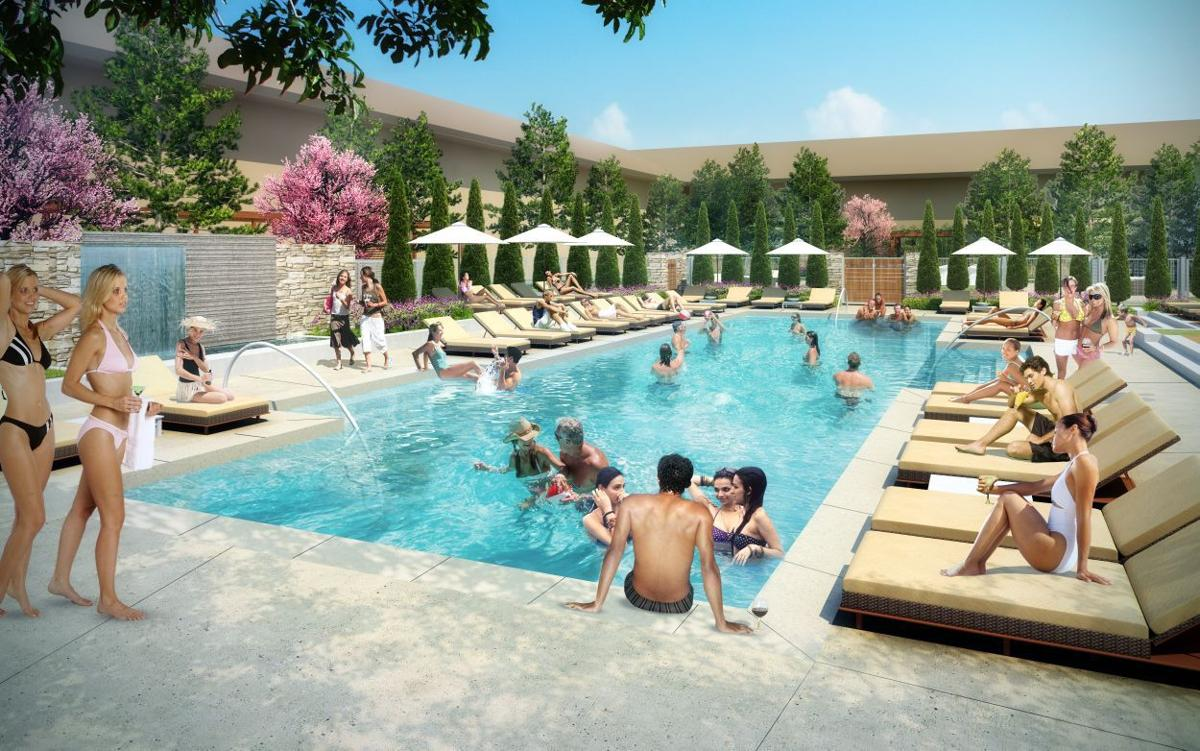 An Artist Rendering Of The New Pool And Courtyard Area At Napa Marriott
