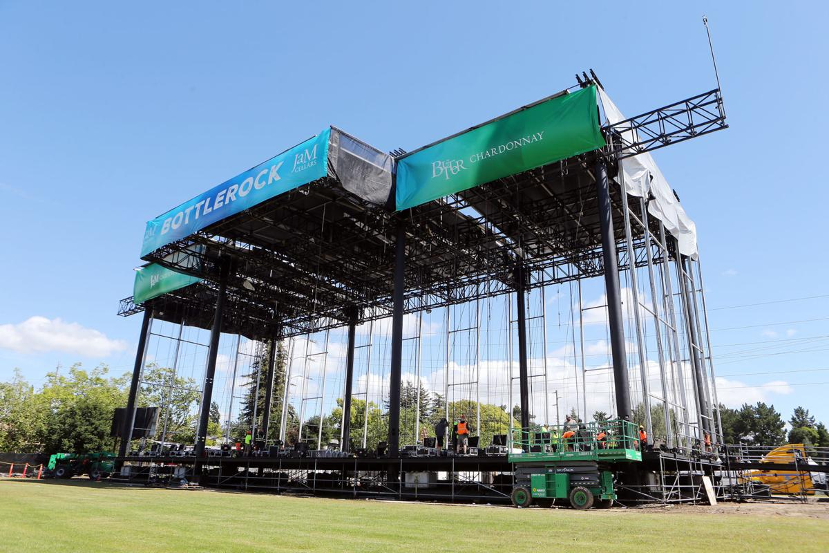 BottleRock 2019 setup at the Napa Valley Expo