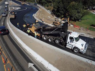 Napa roundabout pouring asphalt (copy)