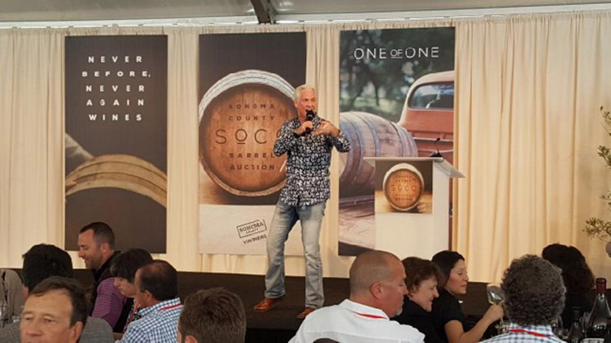 Sonoma Valley Barrel Auction - Auctioneer John Curly