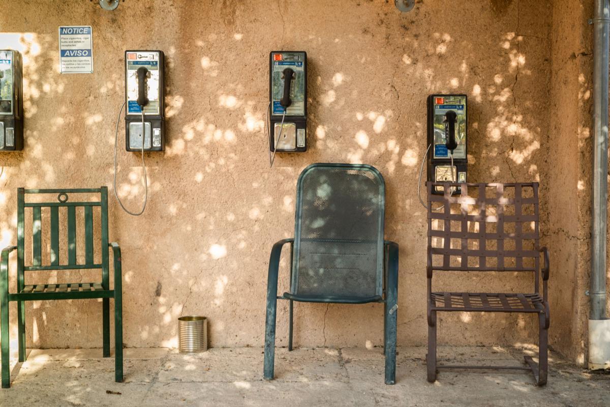 phones on farm center wall