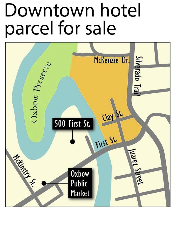 Downtown hotel parcel for sale