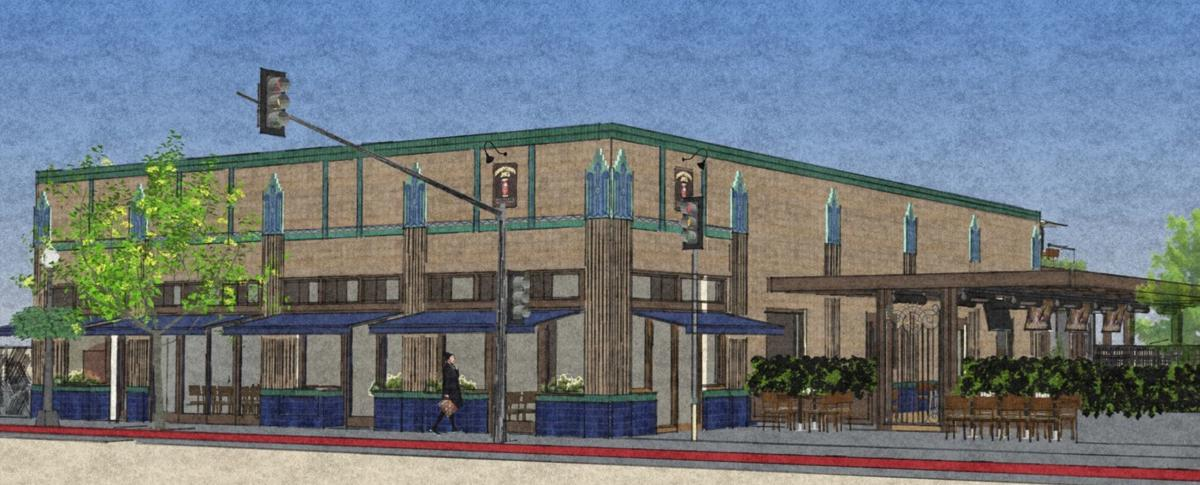 An image of the proposed renovation of Downtown Joe's in Napa.