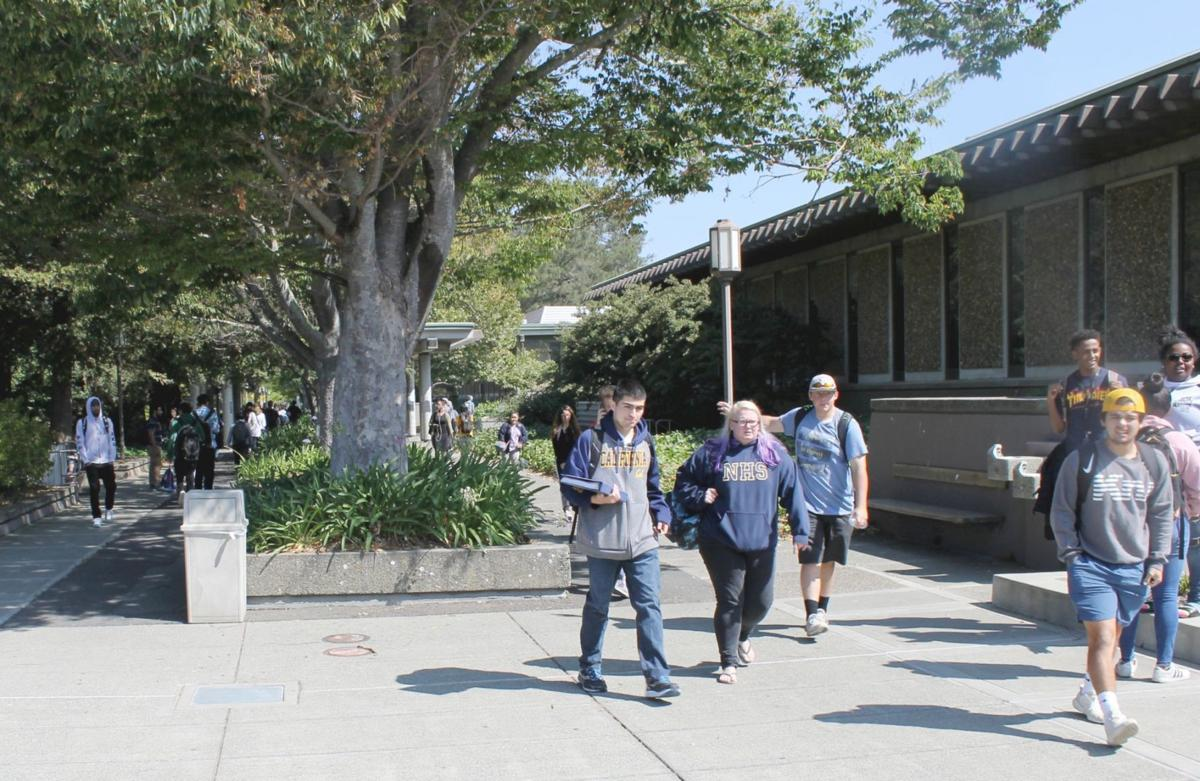 Students on Napa Valley College campus
