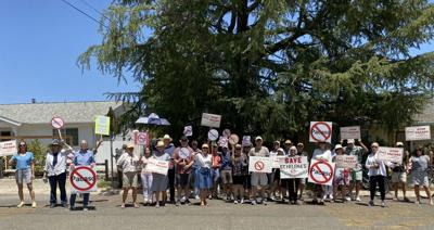 St. Helenans protest against Pacaso