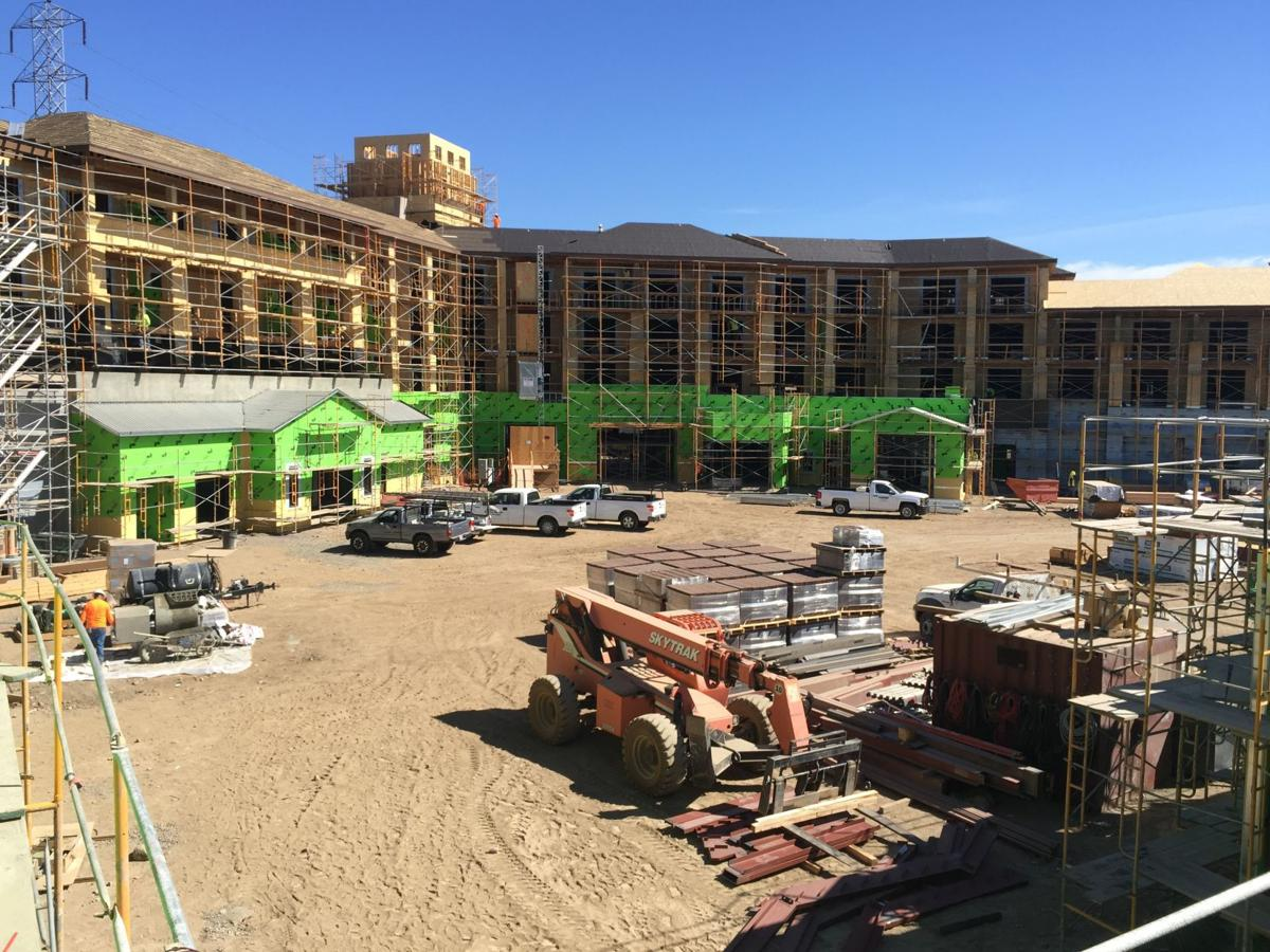 Construction at the Meritage Resort expansion in south Napa
