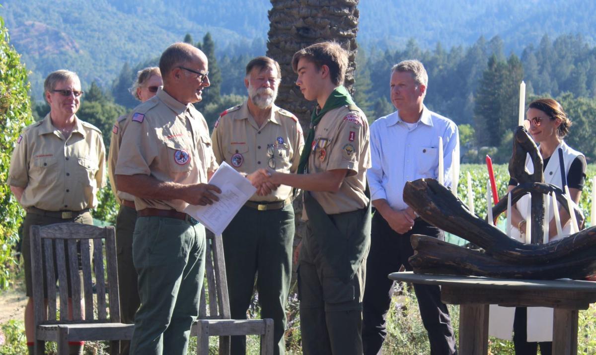 Nicholas Novak becomes an Eagle Scout