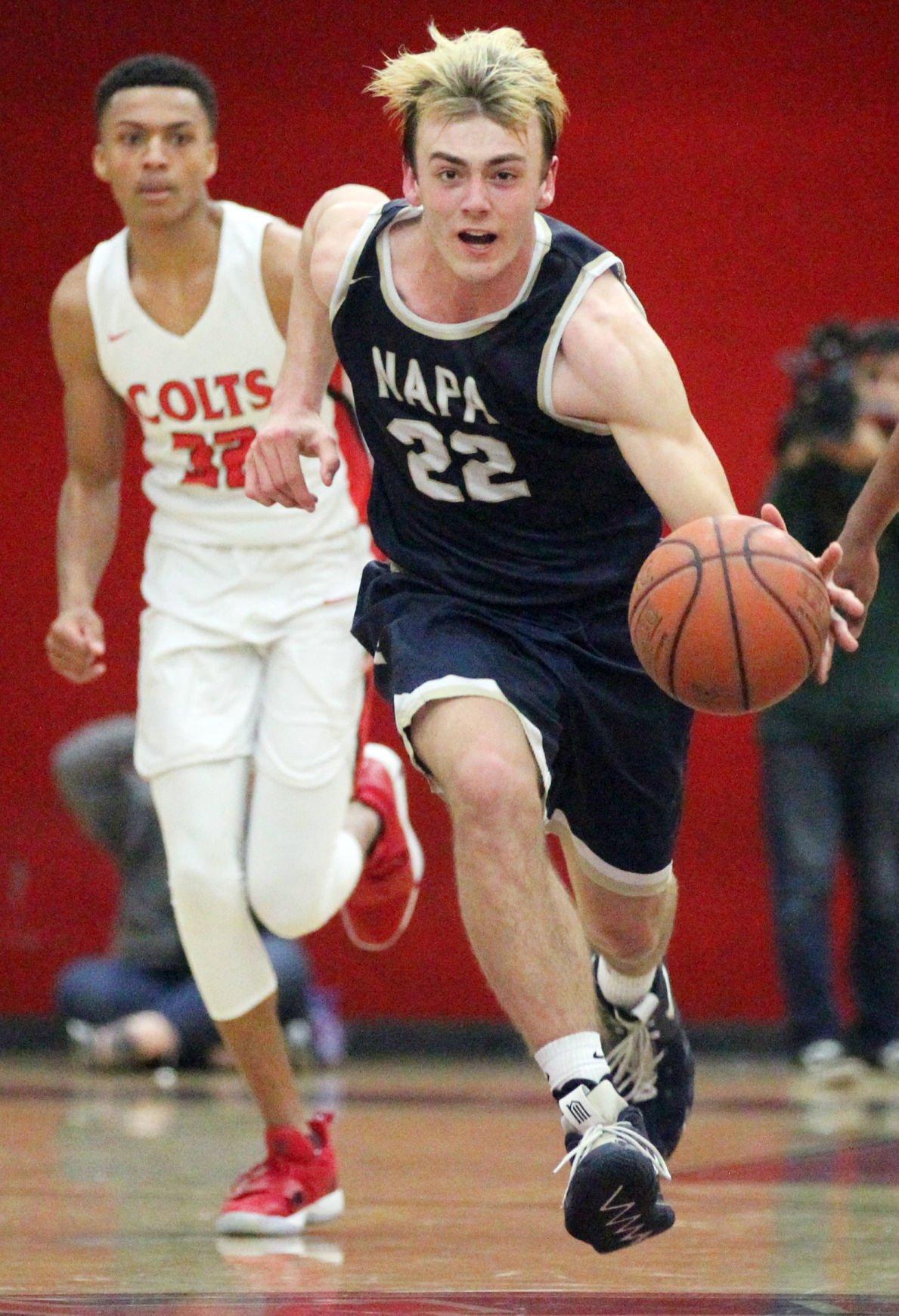 Napa High at James Logan boys basketball