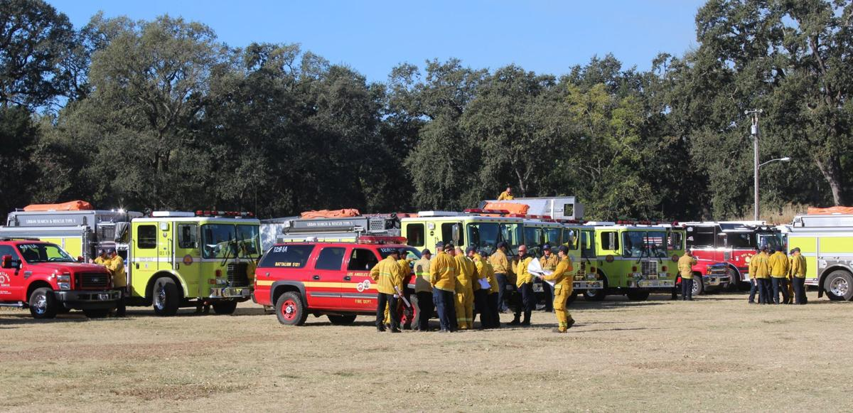 Firetrucks at Napa County Fairgrounds