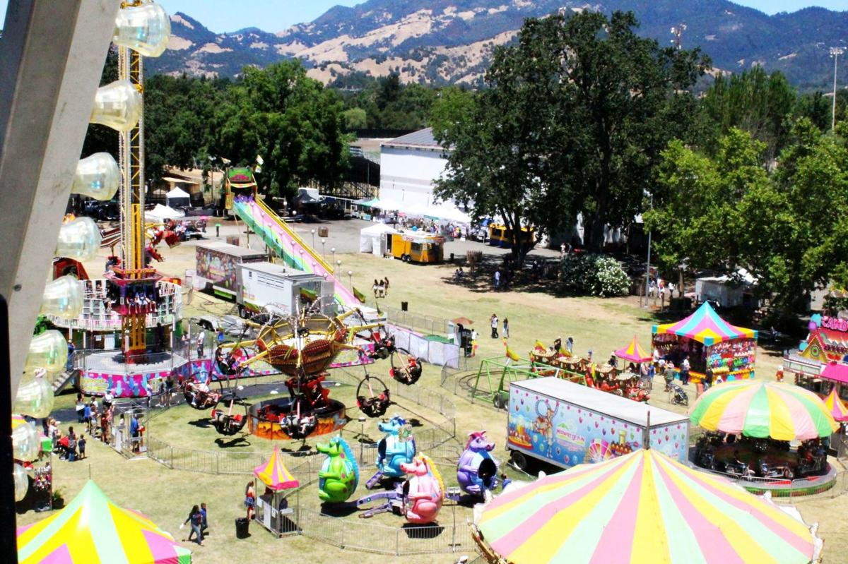 Bird's-eye view at the fair