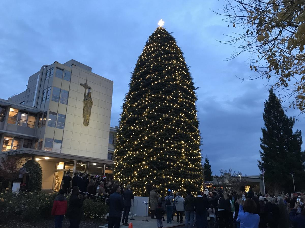 The Queen hosted a tree lighting ceremony on Tuesday night