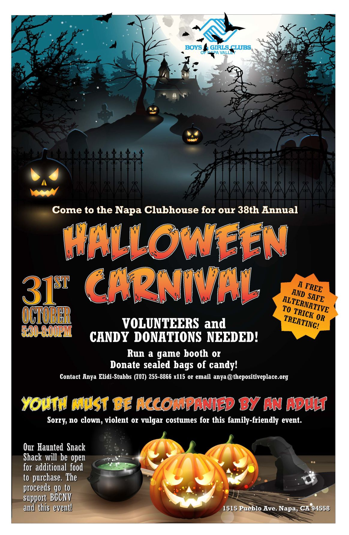 Boys & Girls Clubs of Napa Valley Halloween Carnival