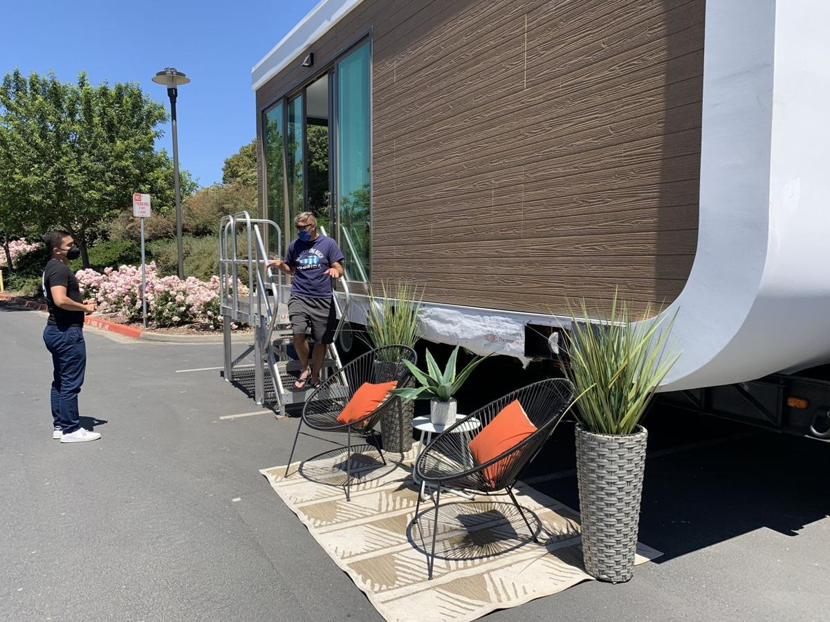 Modular homes built with 3D parts on display in Napa