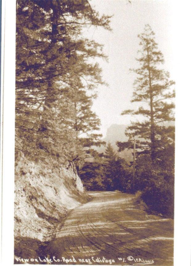 Road between Kelseyville and Calistoga