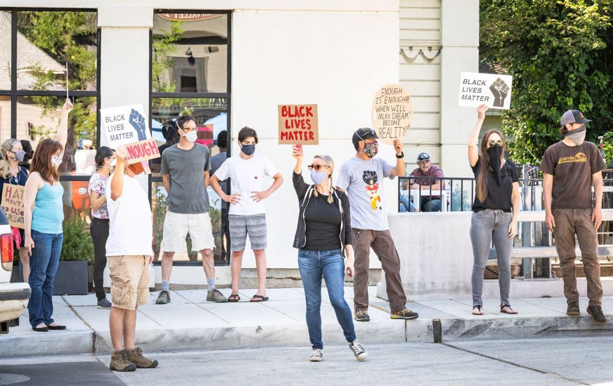 Calistoga peaceful protest
