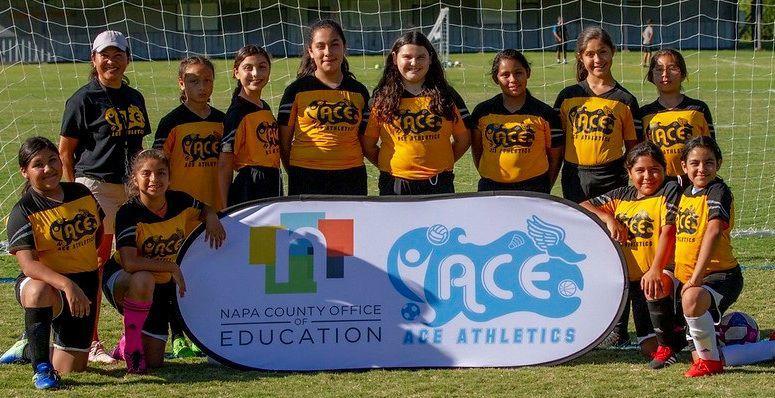Harvest Middle School's sixth-grade girls soccer team