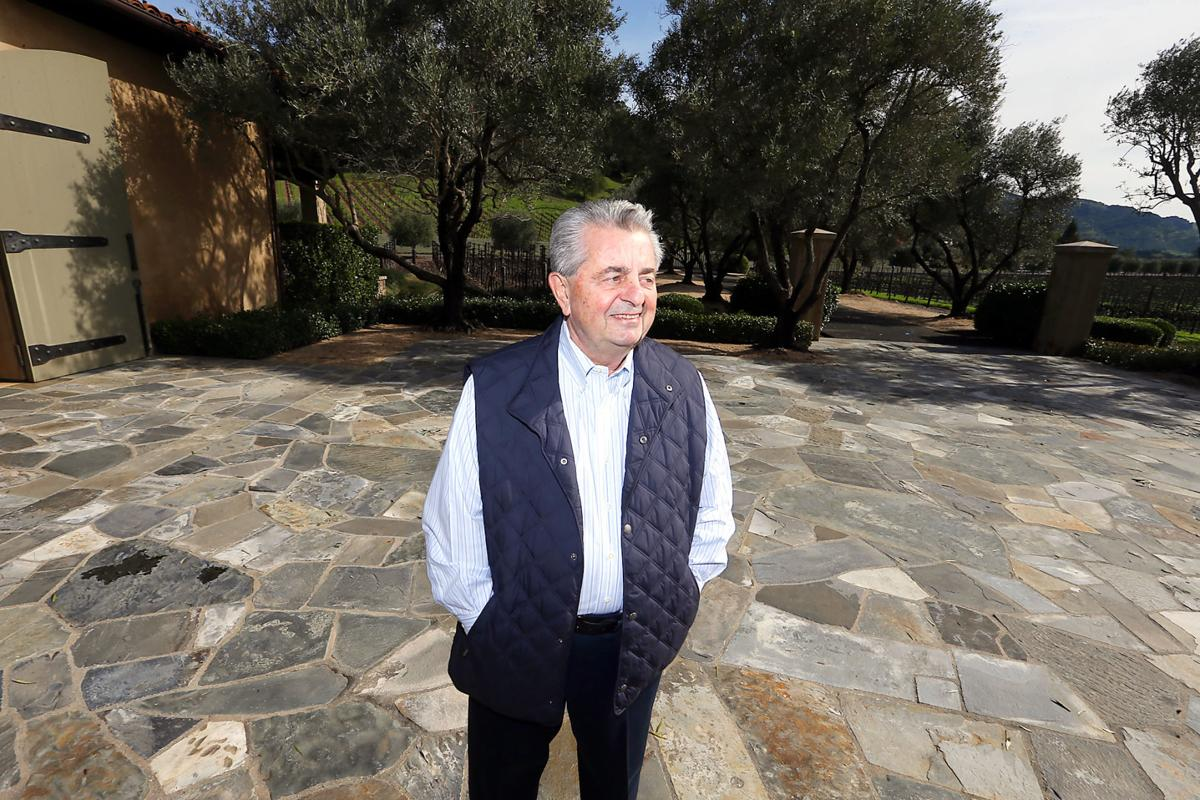Carmen Policy, former San Francisco 49ers president and chief executive officer, as seen at his Yountville home and winery, Casa Piena, in 2017.