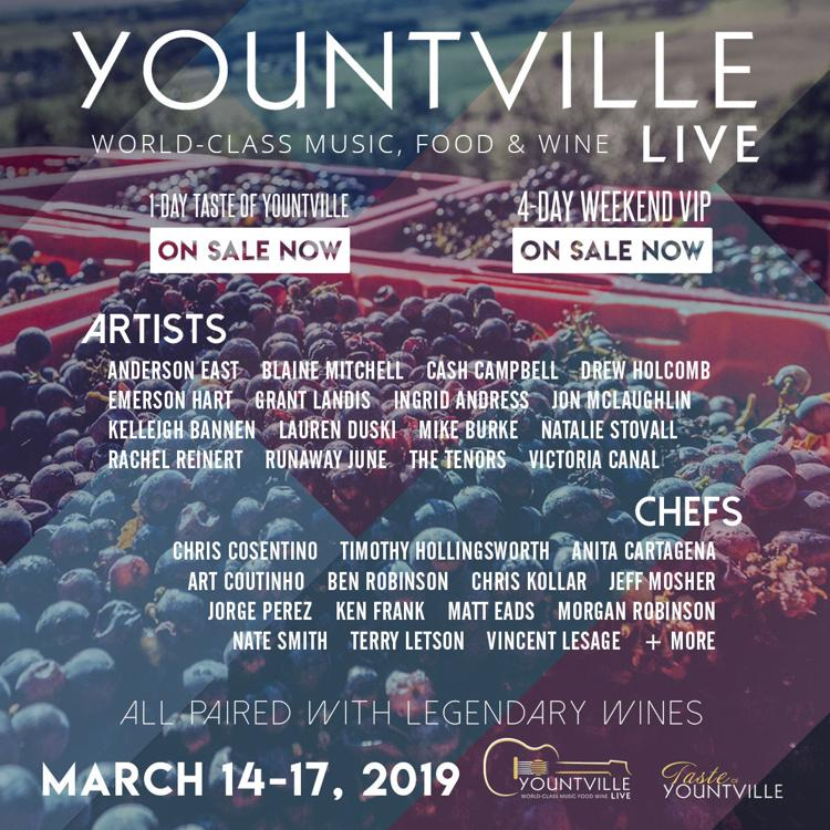 Yountville Live Lineup