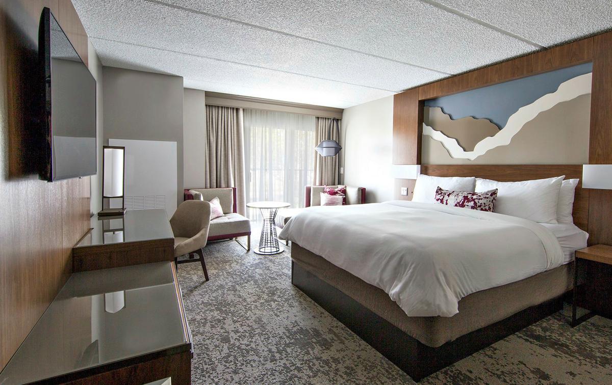 A Napa hotel room