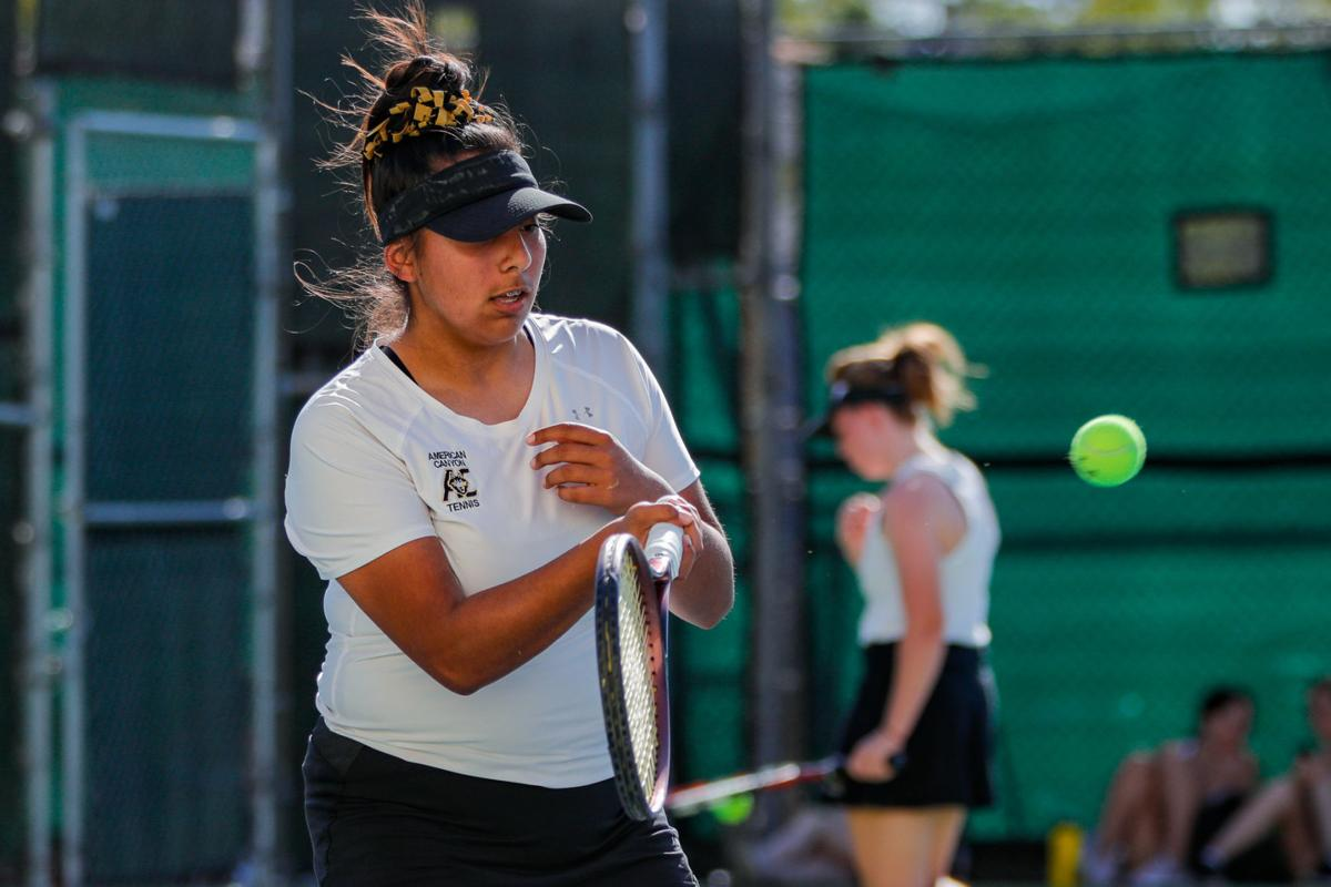 Napa High Grizzlies vs American Canyon Wolves, Varsity Girls Tennis