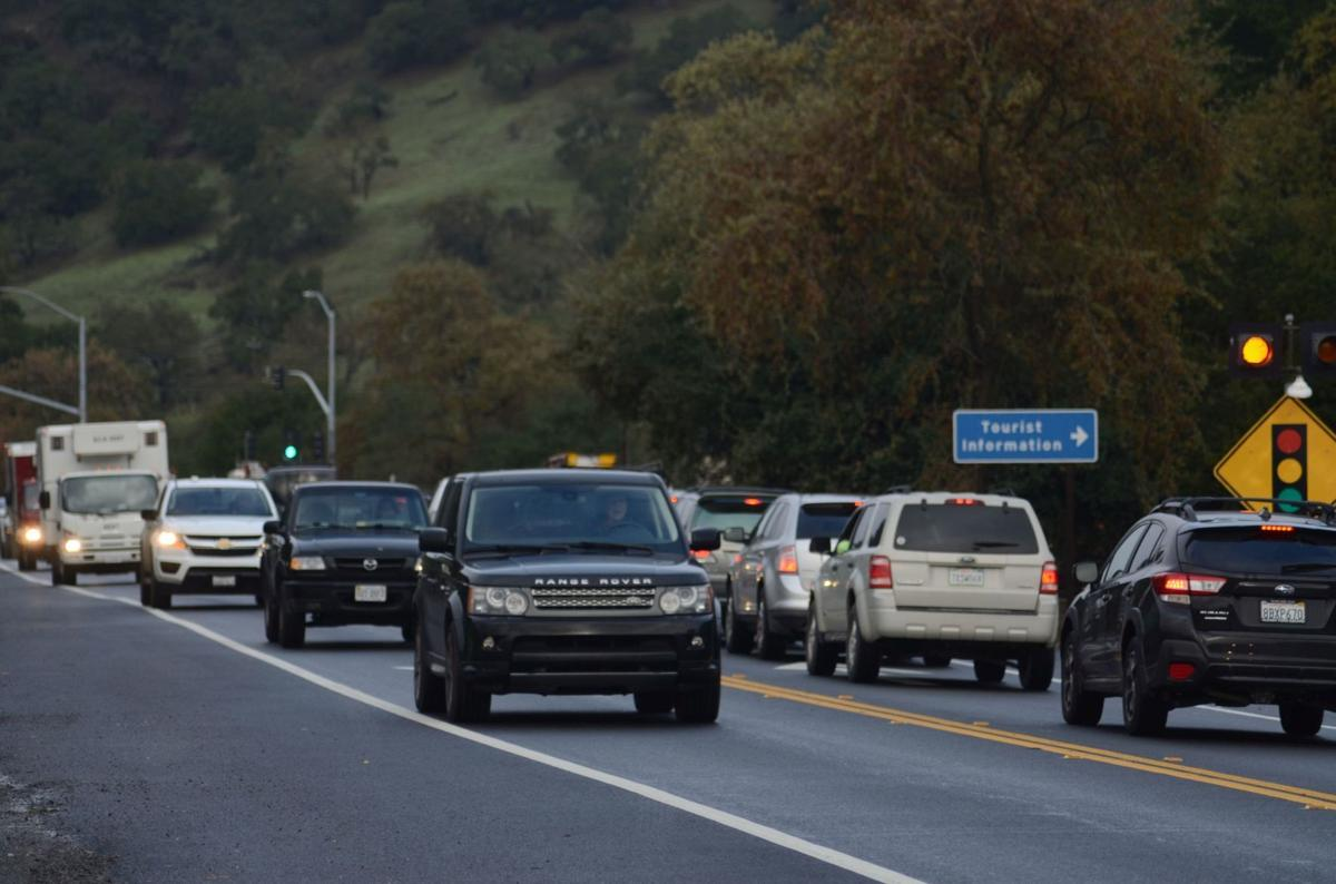 Traffic in Yountville