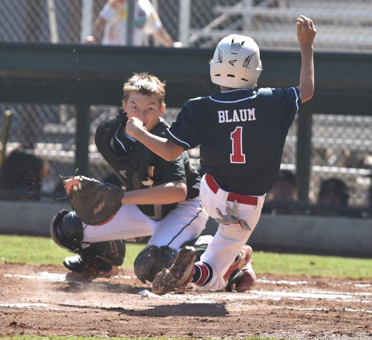 St. Helena Little League Junior All-Stars second baseman Charlie Blaum