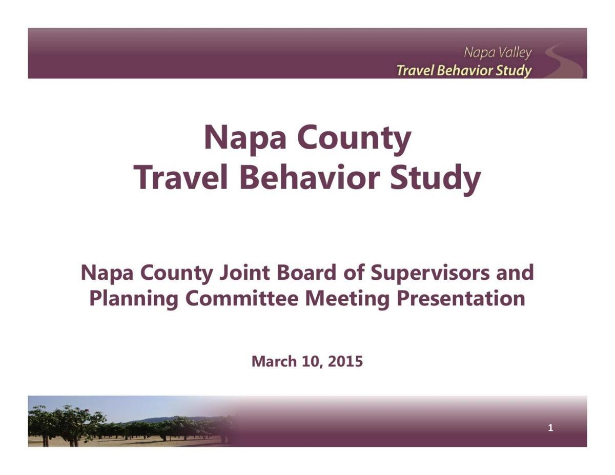 Napa County Travel Behavior Study