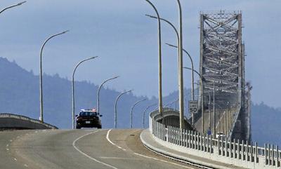 The Latest: Falling concrete shuts most of California bridge