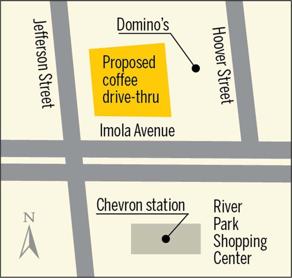 Proposed coffer drive-thru location