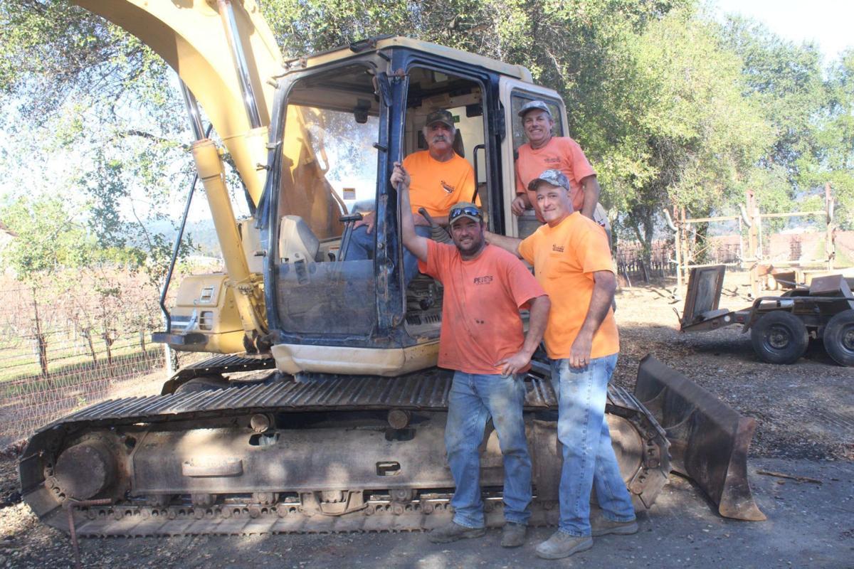 Montellis and excavator