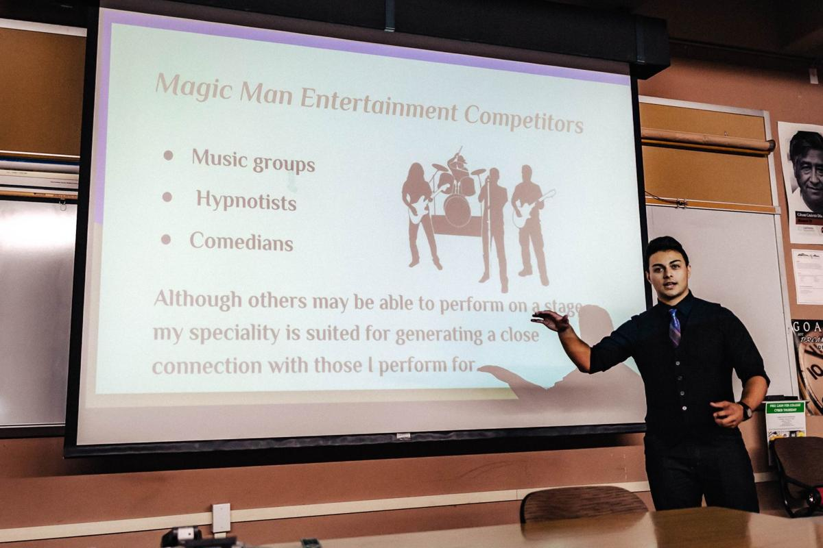 Thomas Alas of Magic Man Entertainment at the 10th Annual Youth Entrepreneurship Business Plan Competition