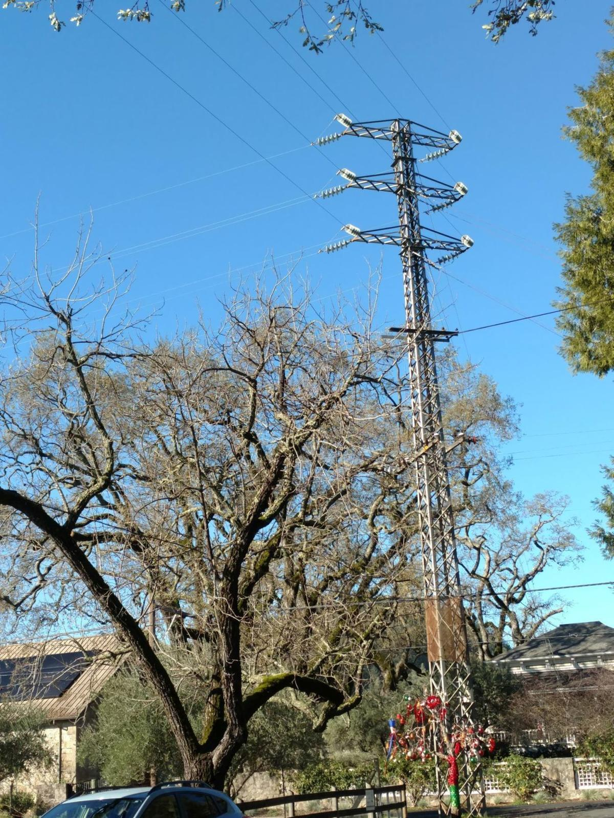 Electrical tower in St. Helena