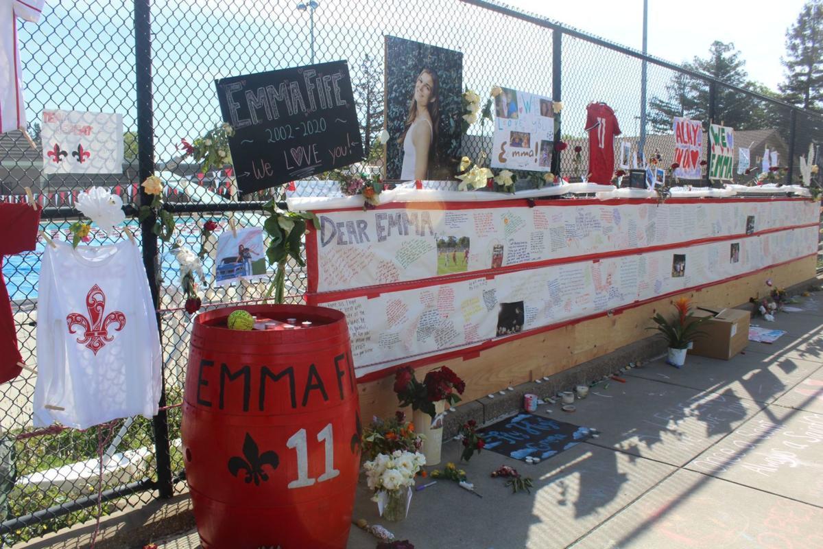 Emma Fife memorial at St. Helena High School