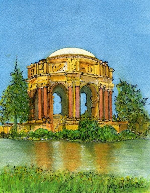 The Palace of Fine Arts  by SF artist, Pamela Rhodes