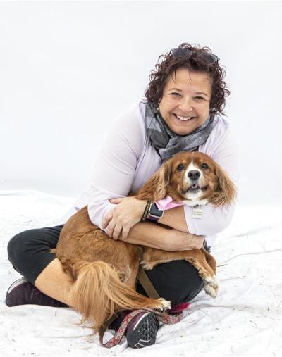 Toni and dog