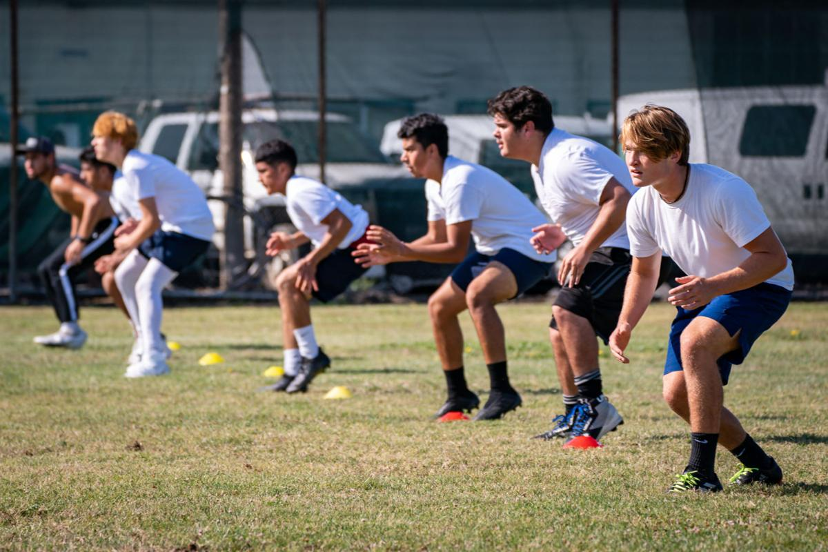 Napa High Football summer conditioning workout